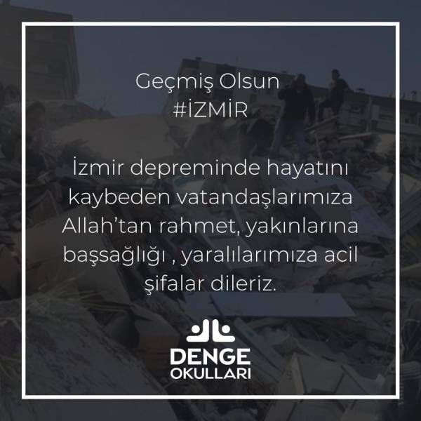 Geçmiş Olsun İzmir !