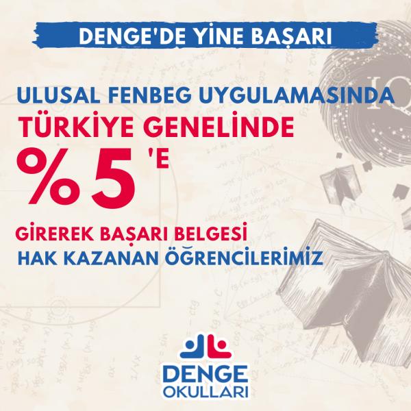 Ulusal FENBEG Uygulamasında 16 Türkiye Derecesi
