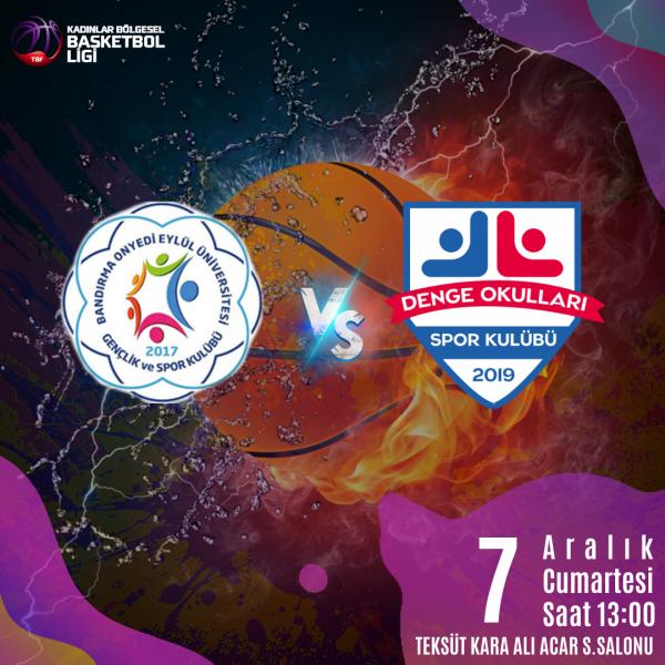 İzmir Özel Denge Okulları Kız Basketbol Takımı 6. Maçına çıkıyor.