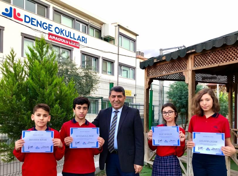 İzmir Özel Denge Okullarında Başarı Yağmuru