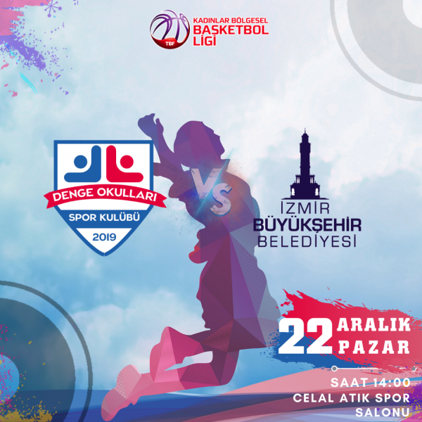 İzmir Özel Denge Okulları Basketbol Takımı 8'inci Maçına çıkıyor.