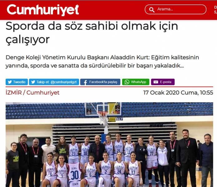 İzmir Özel Denge Koleji'nin Kadınlar Basketbol Takımından Muhteşem Başarı