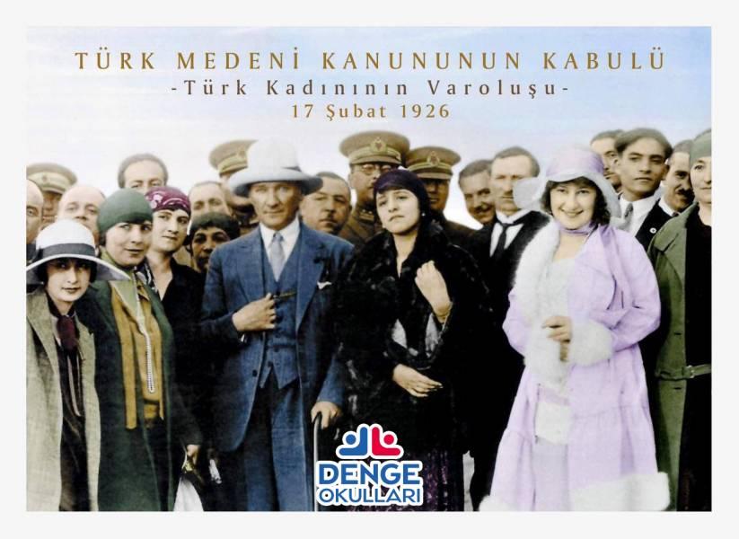 Düşünsel Temelleri Uşakizade Köşkü'nde atılan Türk Medeni Kanunu'nun 94.yılı Kutlu Olsun